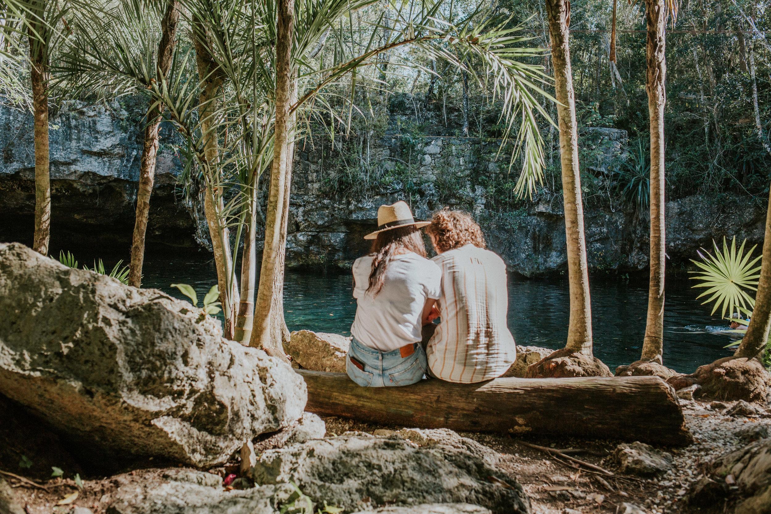 Photo shoot in a cenote Playa del Carmen Mexico