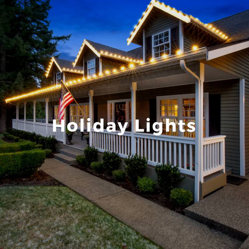 We use a specific installation system and light type to ensure perfection for your holiday home decor.   Learn More