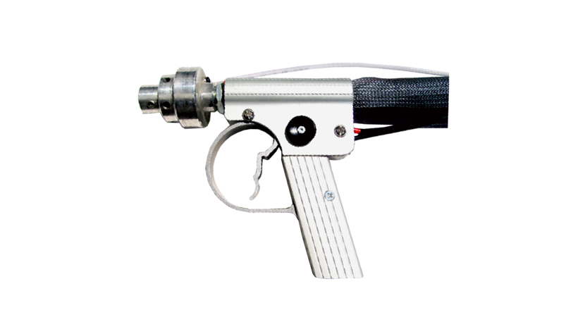 ECO BLASTER - The ECO BLASTER nozzle offers a certain range of applications that helps to complete the overall package of the trilogy. This gun can easily be interchanged with the Helix nozzle as quick connects are installed. This unit offers effective stripping powers. The air flow produced from this nozzle mimics that of a traditional sandblaster but still offers its users gentle removal of surface contamination. This nozzle works well for removal of paint on metal surfaces, rust removal, etc. For historic restoration please refer to the Helix nozzle.Like the HELIX nozzle, the ECO Blaster offers convenience to its users by operating as a dry or wet system.