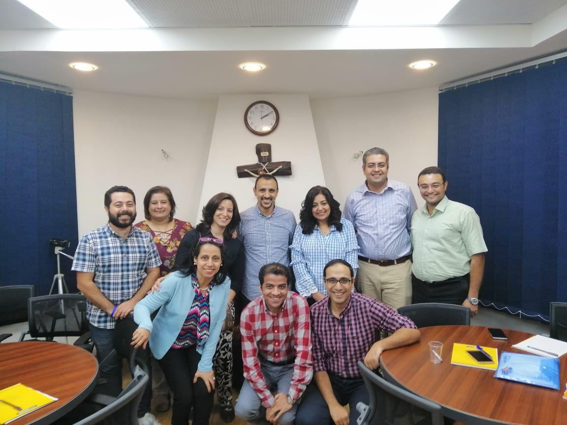 Dr. George Tadros with SPIMS students in November 2018