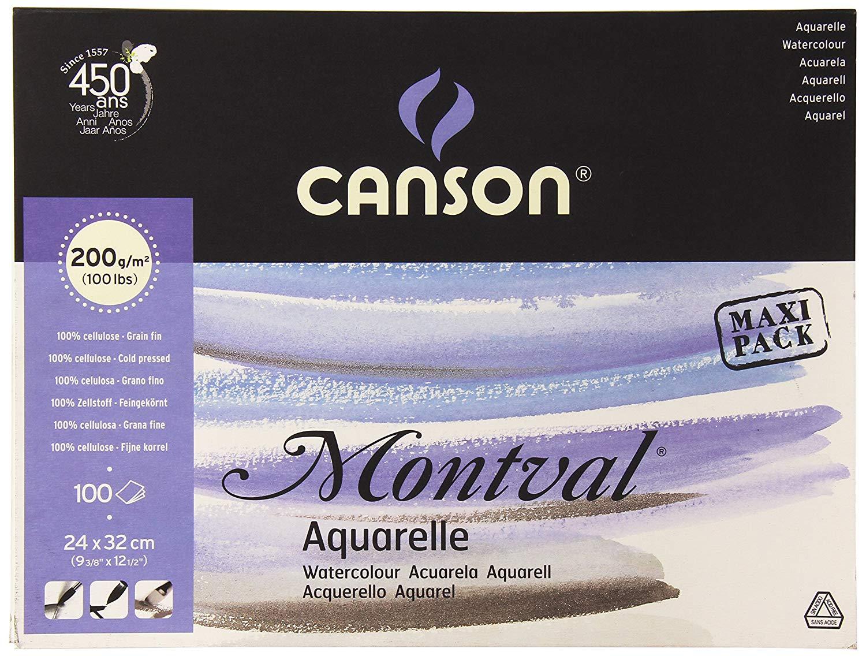 Canson Montval Aquarelle 200gsm 100sheet pack.jpg