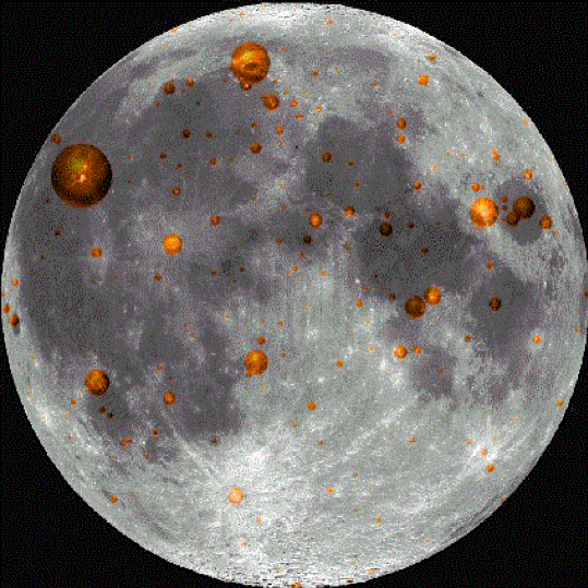 Locations Of Some Transient Lunar Phenomena