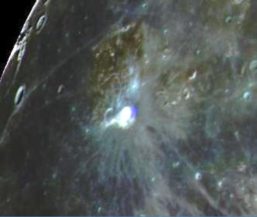 """The """"Blue Gem"""" Aristarchus Crater"""