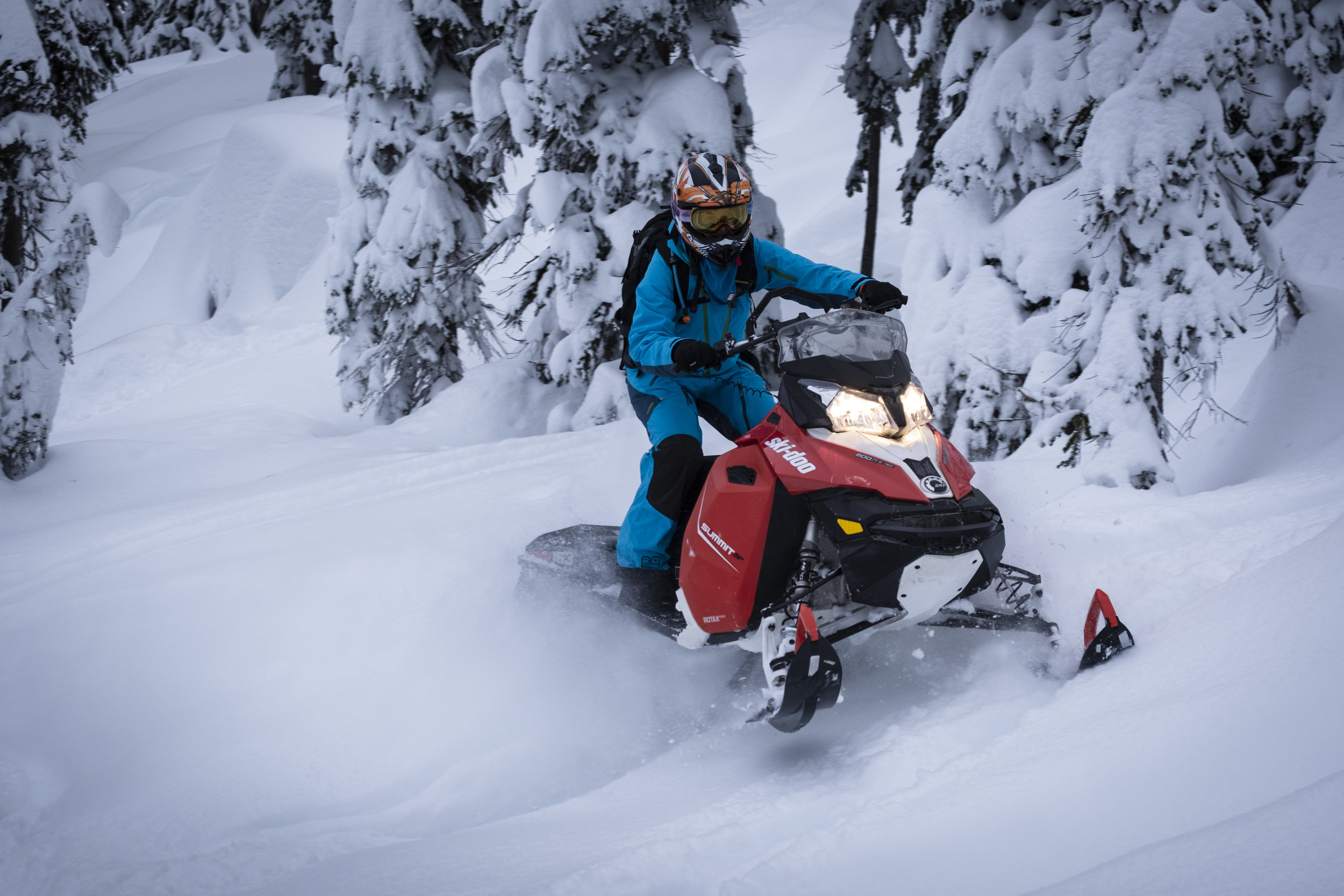 Lydia breaking in our 2016 Ski-Doo Summit 800 SP 163