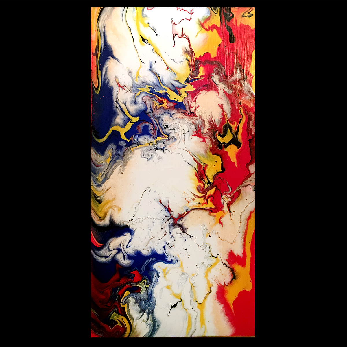 Equus - one of my flow paintings.