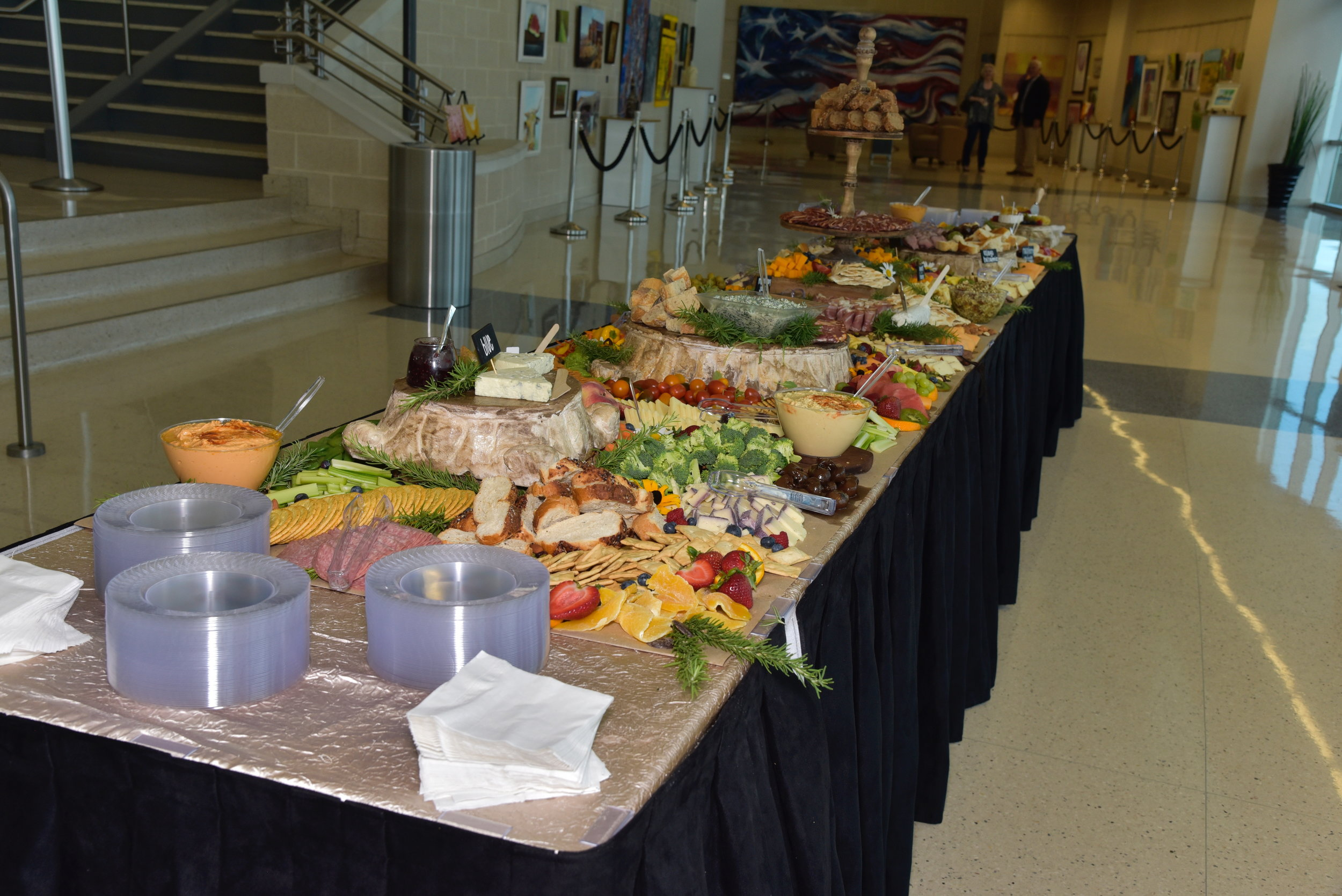 Inspirations Catering provided the charcuterie table to the delight of all participants.
