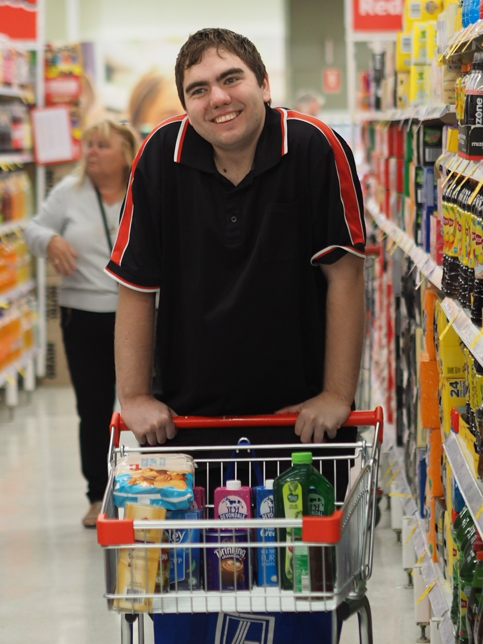 Josh grocery shopping