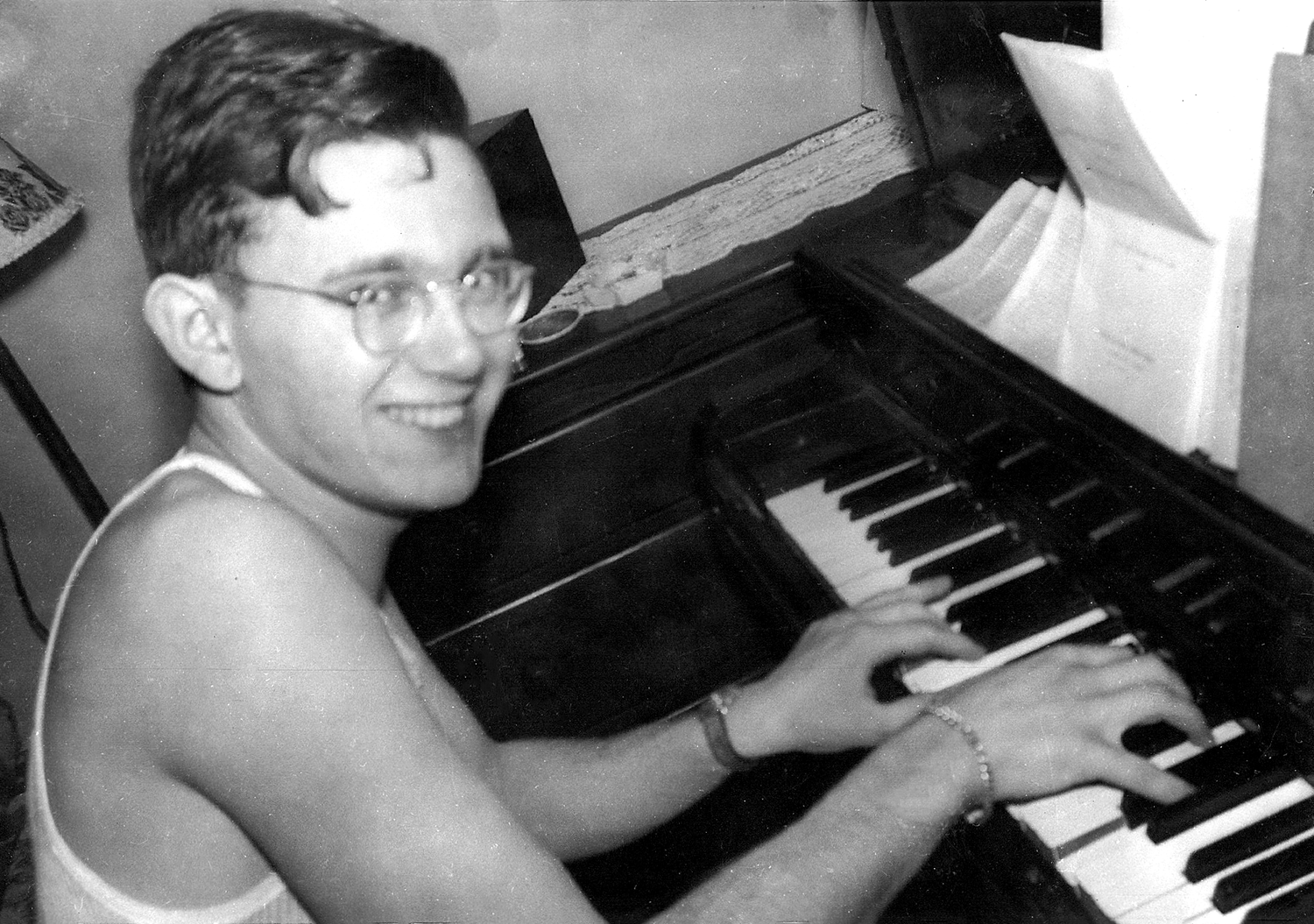 Young Arthur Secunda at Piano
