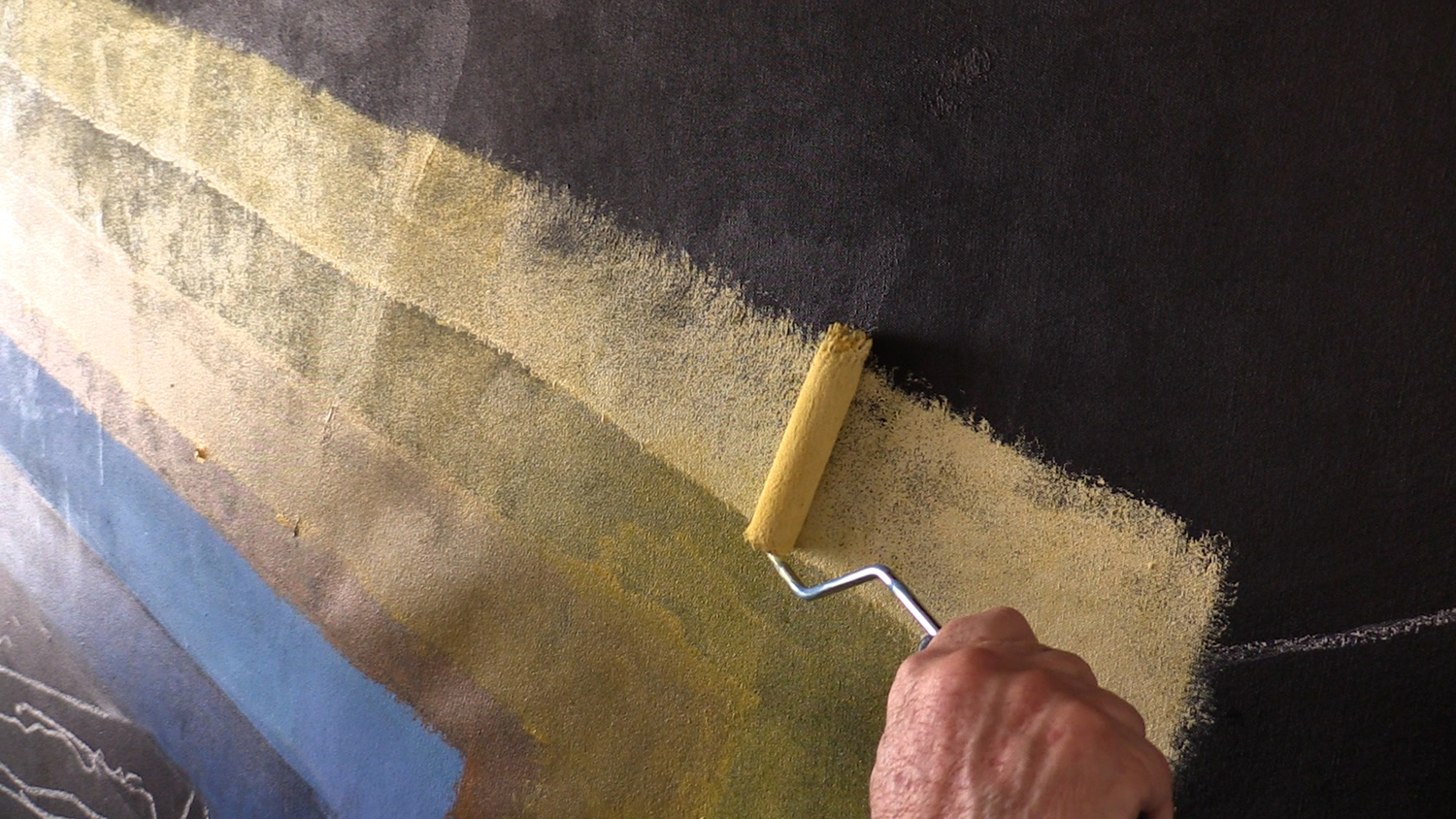 Arthur Secunda Paints with Roller