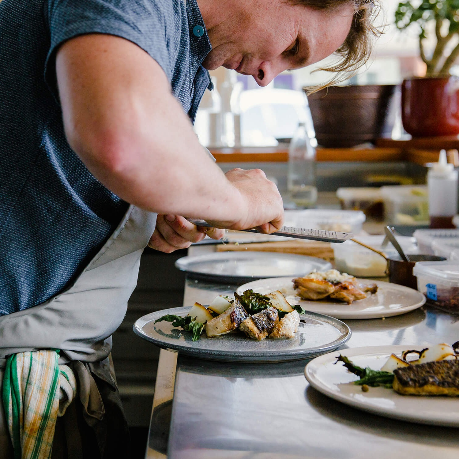 meet ben - Having grown up in Byron Bay, Ben Devlin has always enjoyed a deep connection to the region, its people and producers. After four years at Paper Daisy in Cabarita, it was time to focus on fulfilling his ambition to open his own restaurant. Pipit is that restaurant.