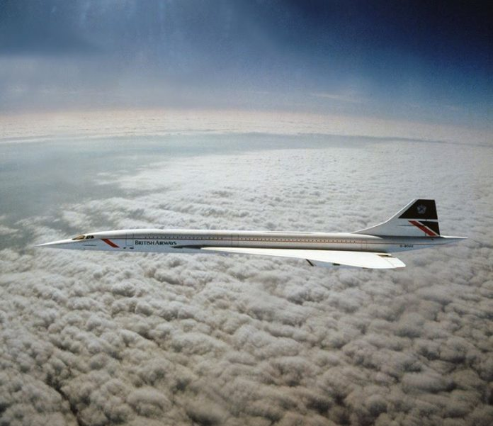 The only known photograph of Concorde flying at Mach 2 taken by a RAF Tornado during a chance rendezvous over the Irish Sea in 1985