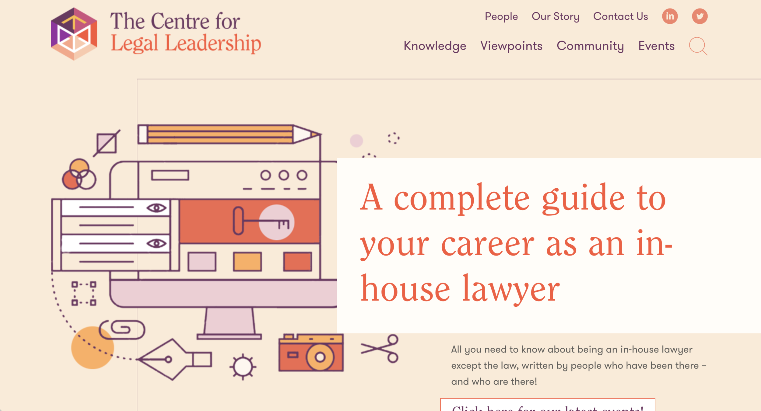 Centre for Legal Leadership Brand and web design concept