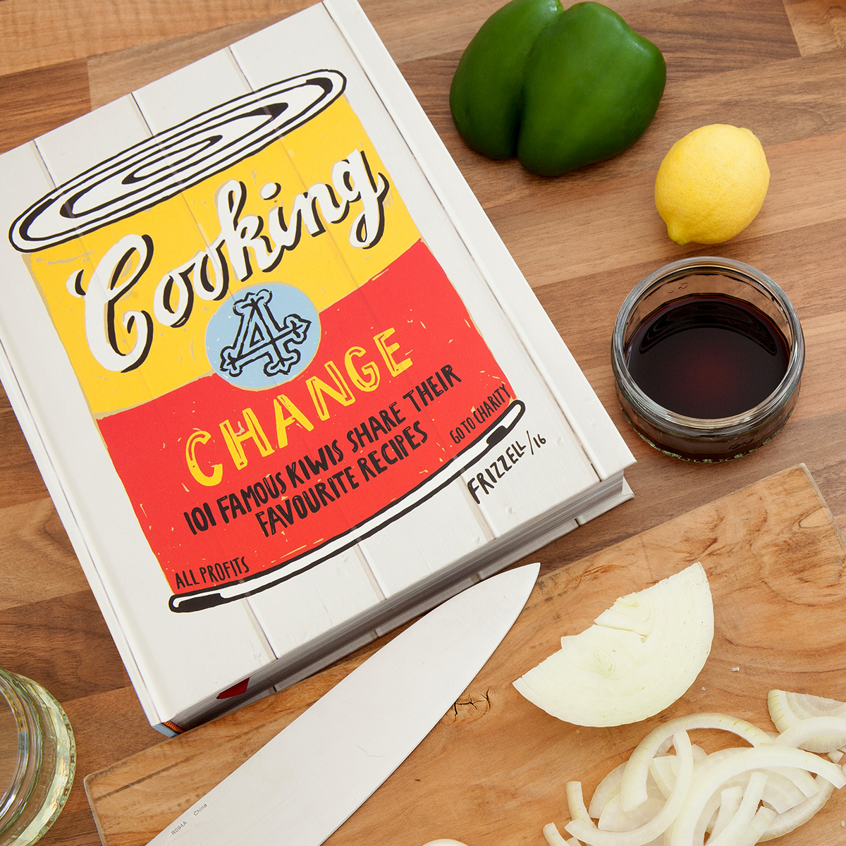 Cooking 4 Change - A diverse selection of recipes and intimate cooking stories from a raft of our favourite personalities who want to make a difference. The recipes and stories are accompanied by sumptuous photography, mostly taken inside each celebrity's own kitchen.(Published September 2016)