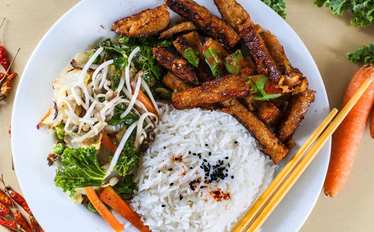Le seitan caramélisé  aux légumes, ma recette préférée sans viande !