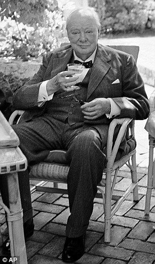 Churchill enjoyed a cocktail