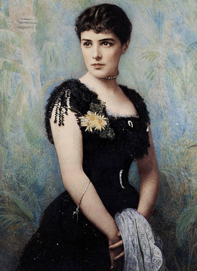 Lady Jeanette Spencer-Churchill, c.1874 - glamourous English socialite and Winston Churchill's mother.