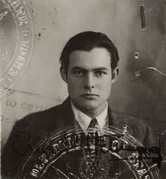 Ernest Hemingway's passport photo from the 1920s