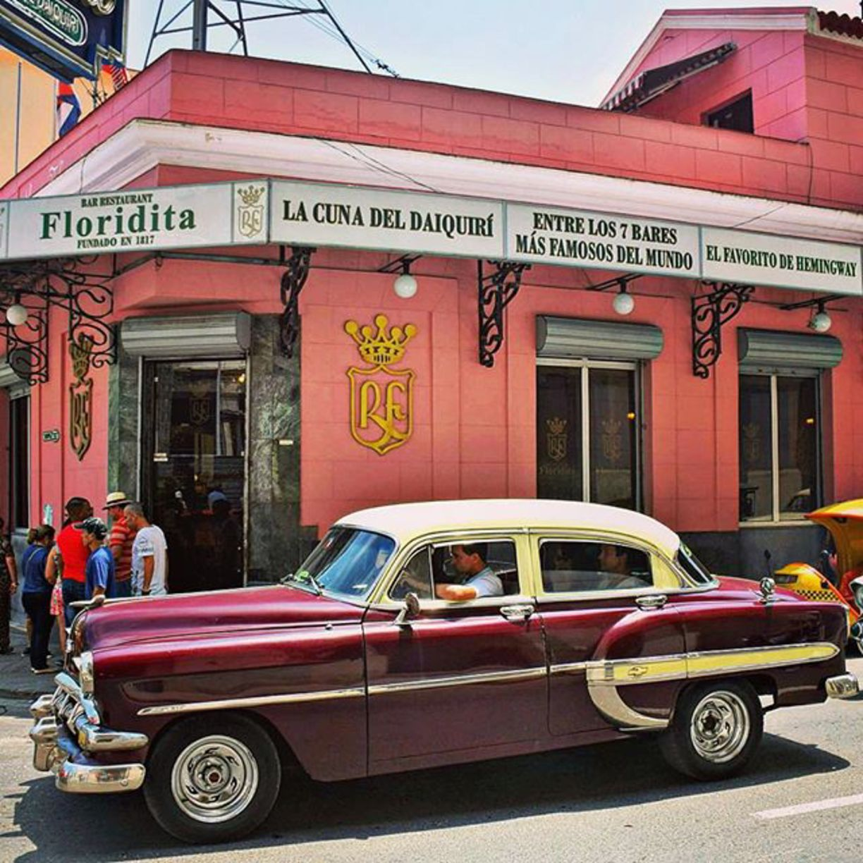 The Floridita bar in Havana, Cuba - The Cradle of the Daiquiri