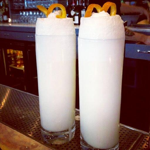 Ramos Gin Fizzes in a Bourbon Street bar