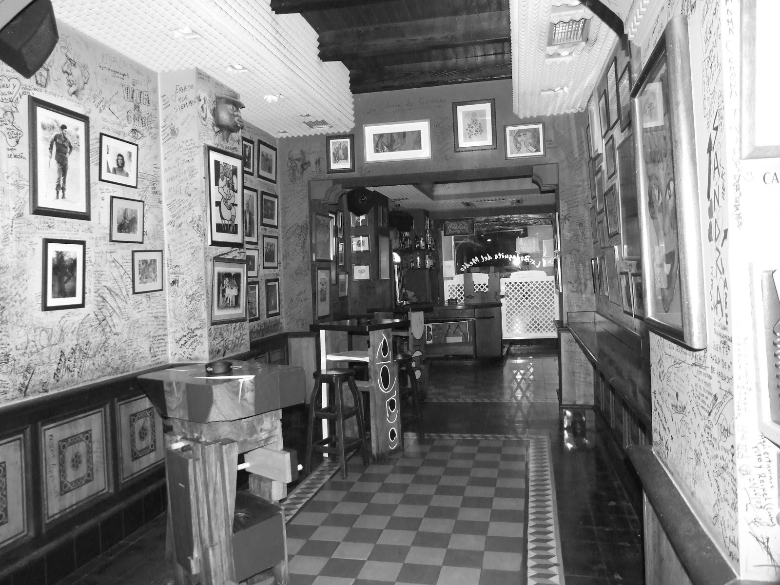 Interior of La Bodeguita del Medio in the 1950s