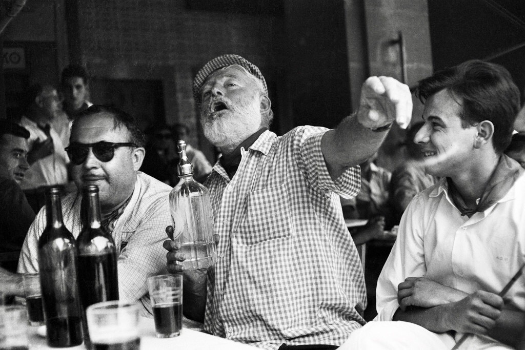 Hemingway at the bar
