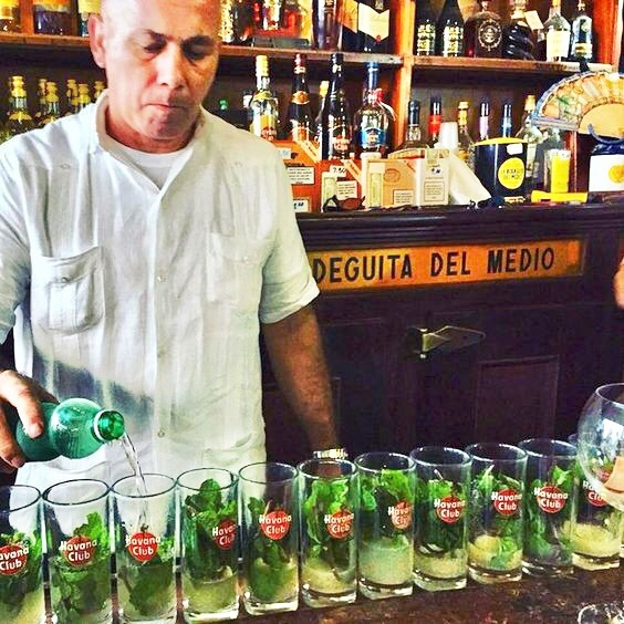 'Havana Club' Mojitos in the Bodeguita del Medio