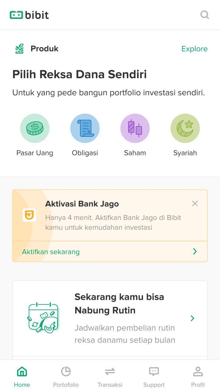 Cara Daftar Bank Jago Lebih Gampang lewat Aplikasi Bibit 2