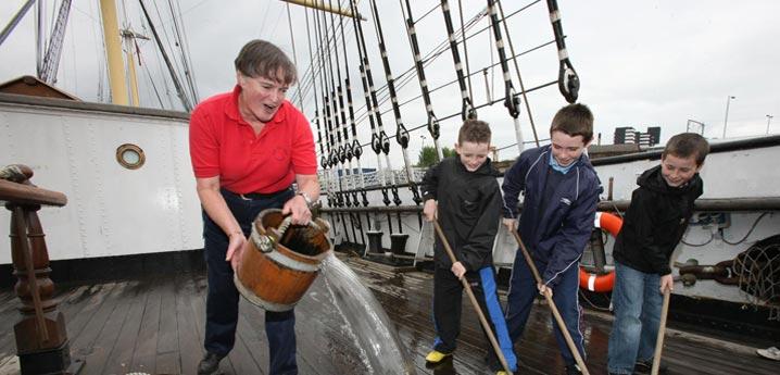 The Tall Ship Scrubbing the Deck.jpg