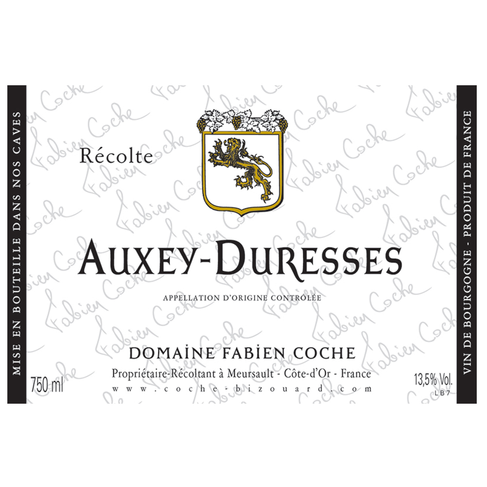 AUXEY-DURESSES ROUGE     TECH SHEET