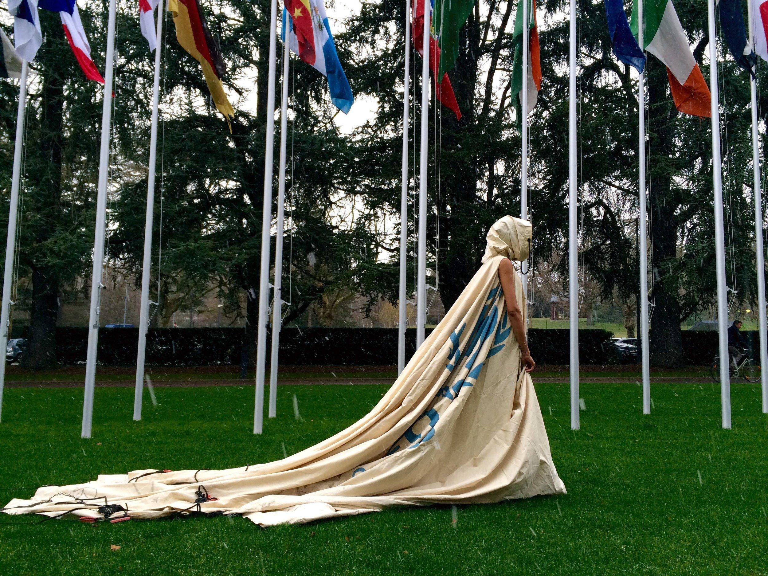 Through the snow to The UN Geneva