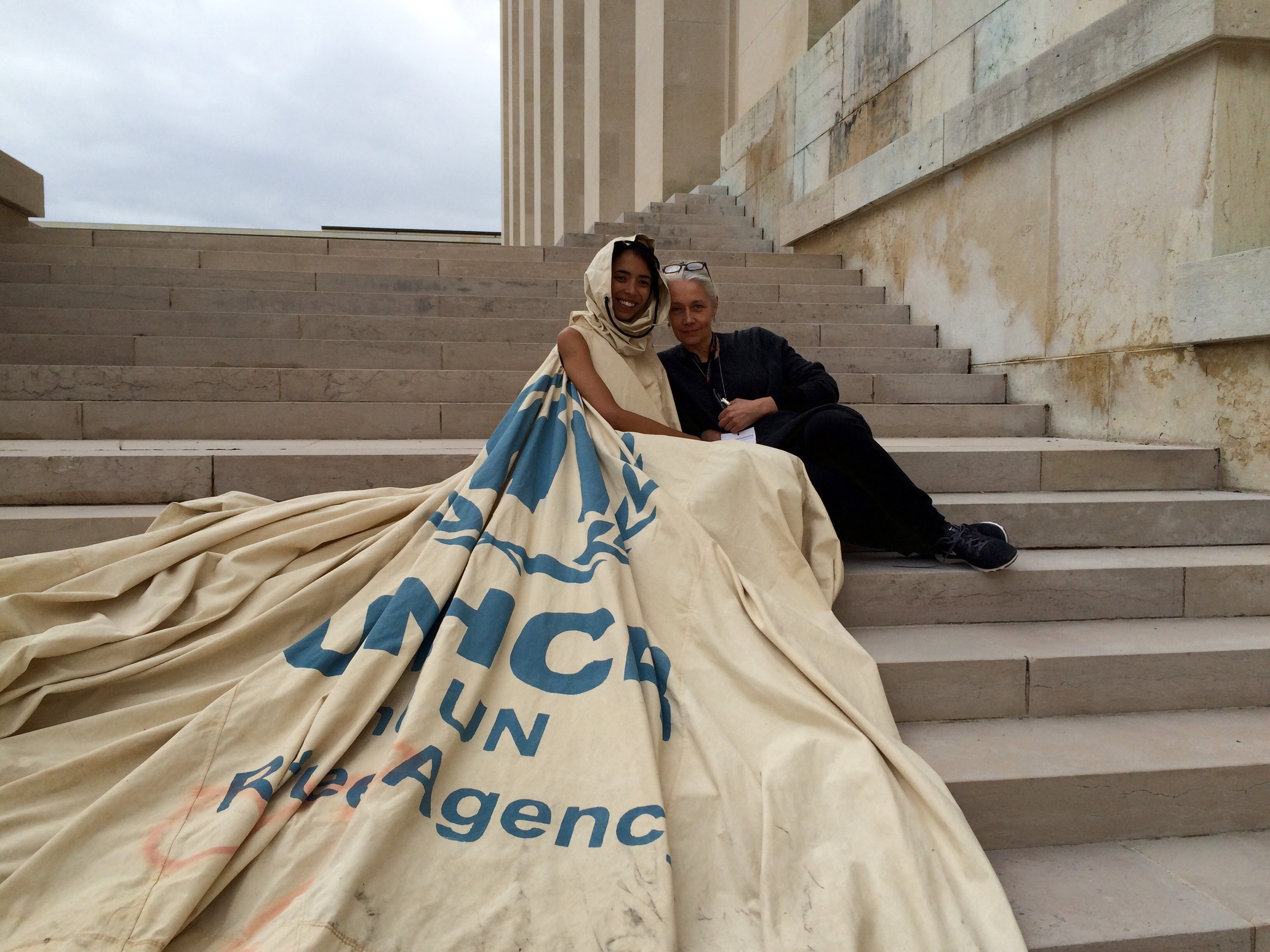 Dress For Our Time - On the steps of the UN Geneva