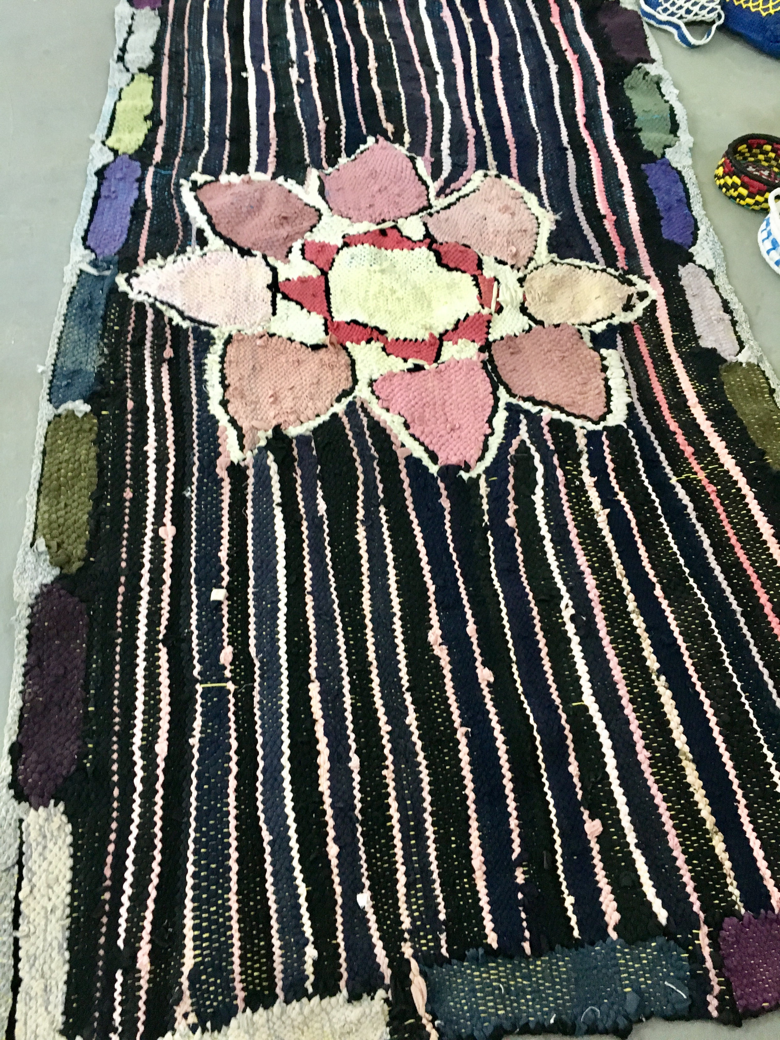 Rug making from recycled clothes UN Women