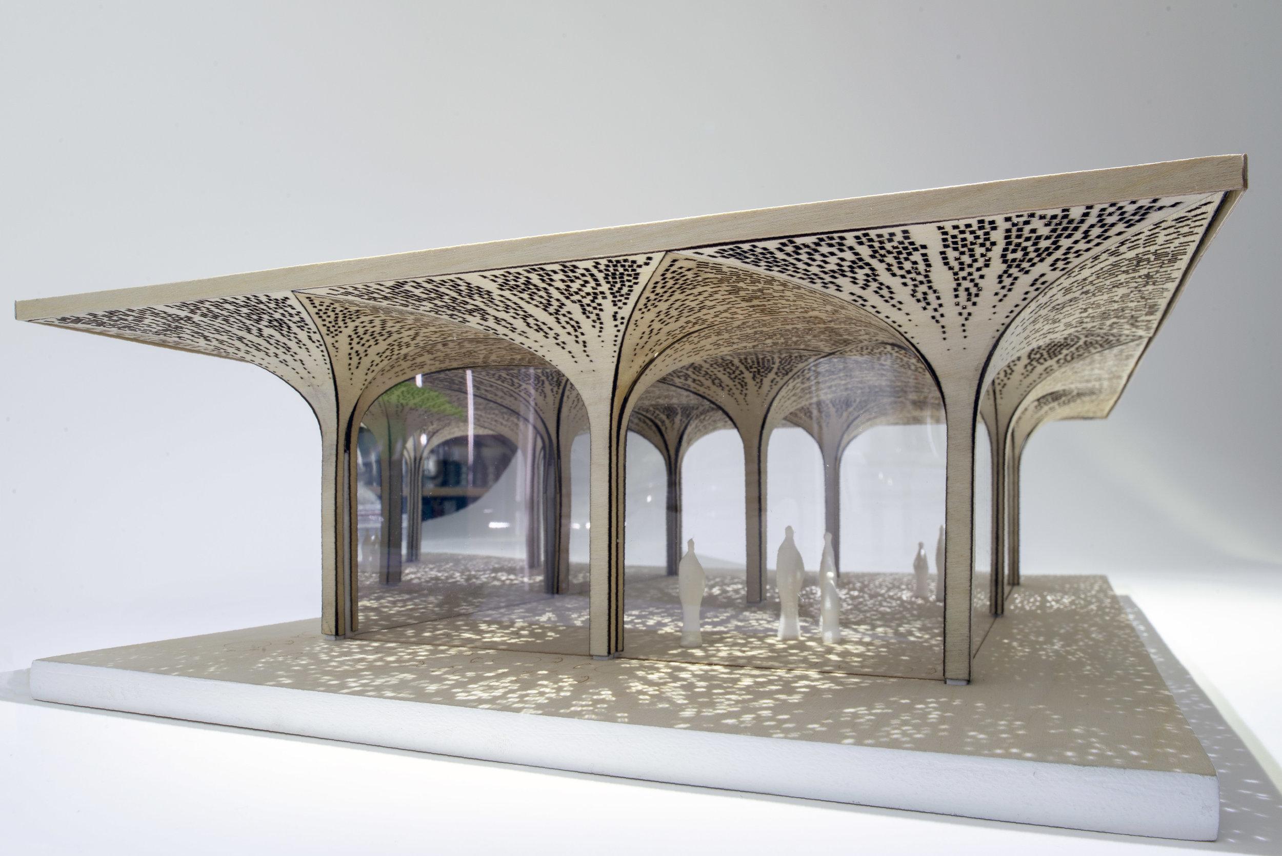 Paddington_Willow_Pavilion_Model_Tonkin_Liu_Royal_Academy_Summer_Exhibition