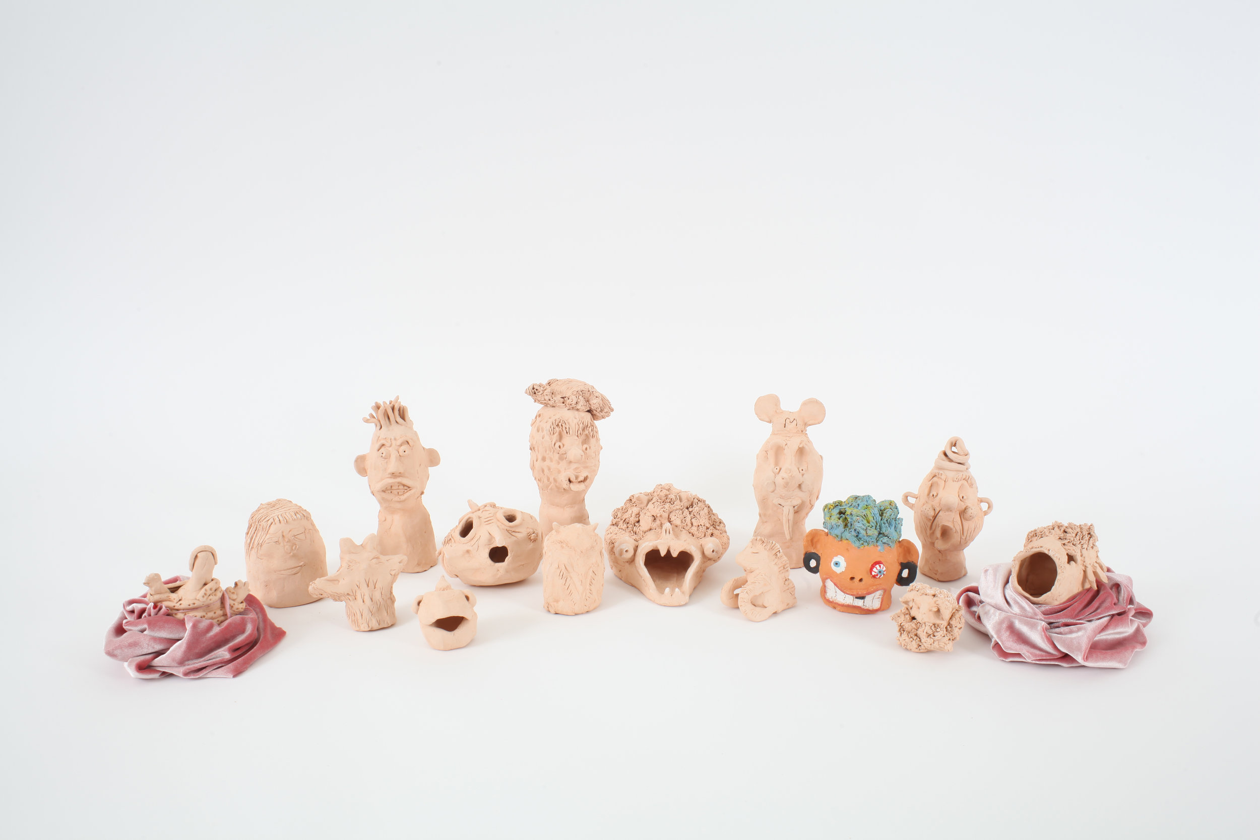 Clay heads from week one, Photo by Martin Livesey.jpg