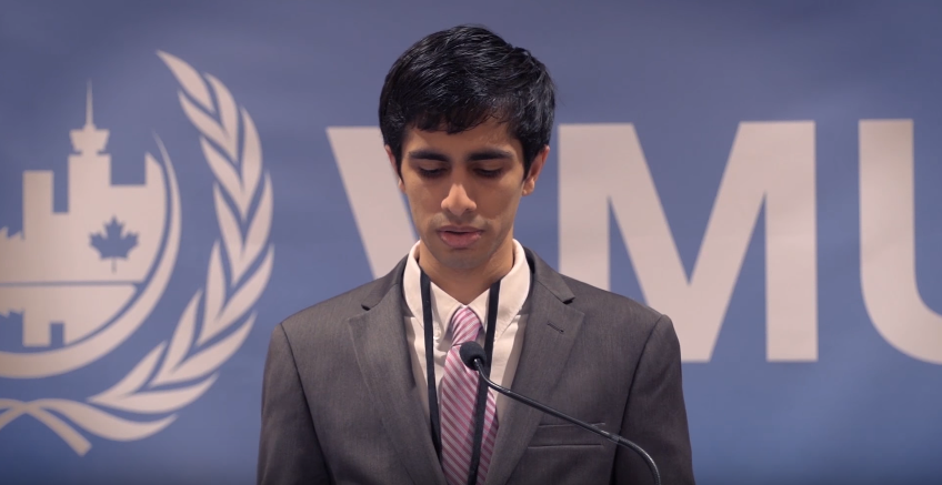 Model United Nations - This is a speech I gave to 800+ attendees at the Vancouver Model United Nations. Justin Trudeau (Canadian PM) was among the other speakers at the event.