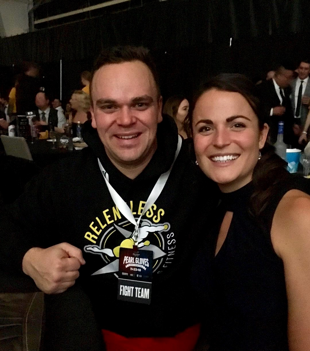 """Pearl Gloves Charity Boxing Event 2018 - Margaret had the pleasure of working with Tim 'The Titan"""" Warden in preparation for his fight at this year's Pearl Gloves charity boxing event in aid of MS.Tim achieved significant weight loss and gained fantastic skills, adopting a more balanced diet but one that also supported his training and epic performance come fight night."""