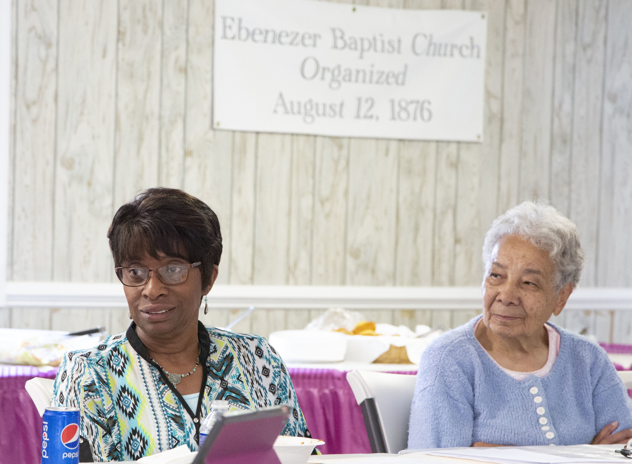 Listen: The Community Speaks participants at Mt. Ebenezer Baptist Church in Midland, Virginia, talk about growing up in southern Fauquier County.