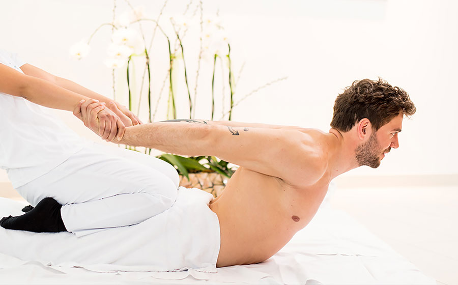 THAI MASSAGE  A massage using pressure points and stretching to relieve muscle aches and pains. Also improves flexibility and range of motion. It's like doing yoga without having to do anything. You will be fully clothed while receiving this massage.