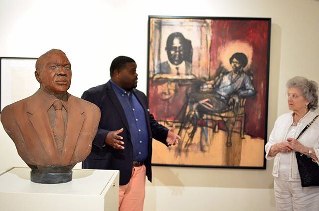 We were thrilled to have visitors from the Heritage at Brentwood. Photo: John W Philbrick,Ph. D. #FiskUniversity #FiskUniversityGalleries #FiskForever