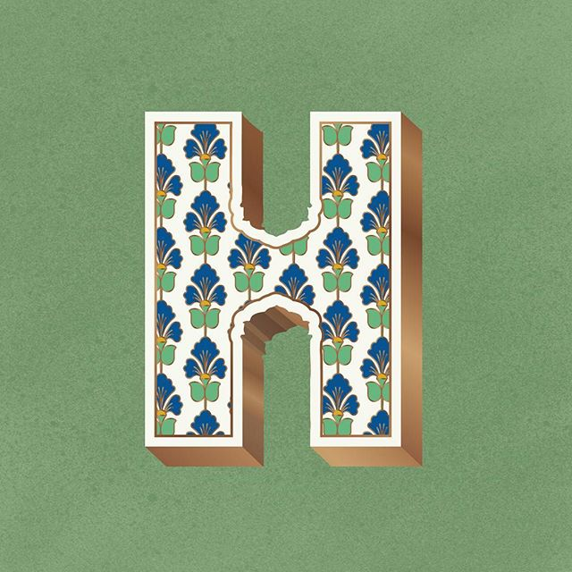 #36daysoftype #36days_H #36daysoftype06  Day 8, Letter H Born and brought up in Delhi, I've been deeply fascinated by the Mughal Architecture sprawled across the city.  It's beautiful how cultural unity can create a lasting legacy as Islamic, Persian, Turkish and Indian aesthetics come together to create the magnificent wide domes, ornate wall carvings and intricate patterns. 36 days of type, this year for me is an attempt to go back to the era when Mughal rule in India witnessed these grand structures that stand tall even today in the heart of India.  #mughal #architecture #unity #letter #handmadefont #thedailytype #typetopia #graphicdesigncentral #india #wallcarvings #floral #persian #ornate #36days_adobe #contest #turkish #design #art #contest #instagood #delhi #gurgaon #draw #adobe #ornate