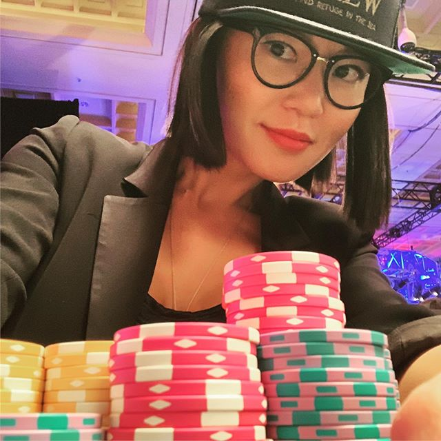 Day 3 of @wsop Ladies Event.  970k on 2nd lvl of the day.  27 players left.  Lets go!!! #stayhumble #pokerwomen @pokerforgood #womenempowerment