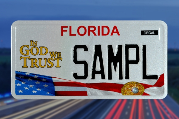 National Motto License Plate Funding -