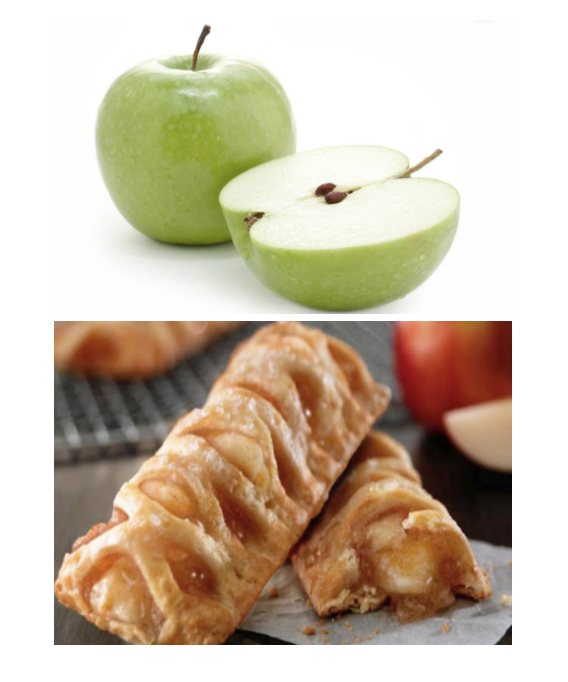 "Apple vs ""apple snack pie"""