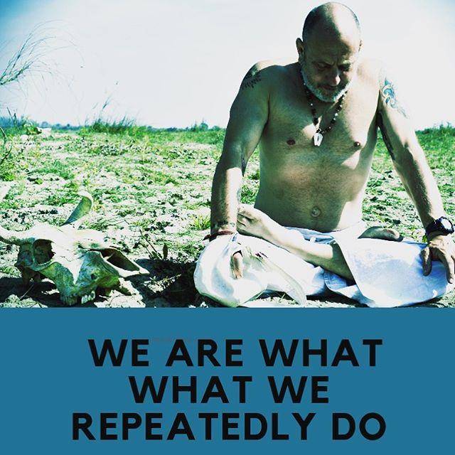 My thoughts create actions. My actions create create habits. My habits create me.  What are we thinking about?? ❤️❤️❤️❤️❤️❤️❤️❤️❤️❤️❤️ #sadhana #japaeverydamnday #srimadbhagavatam #bhaktiyoga #raghunathyogi #raycappo