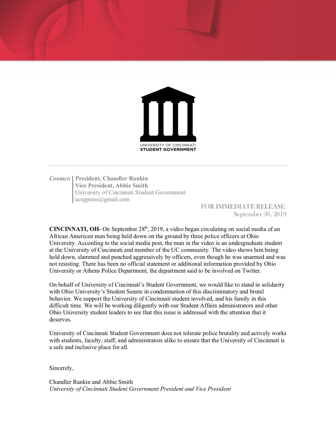SG Press Release
