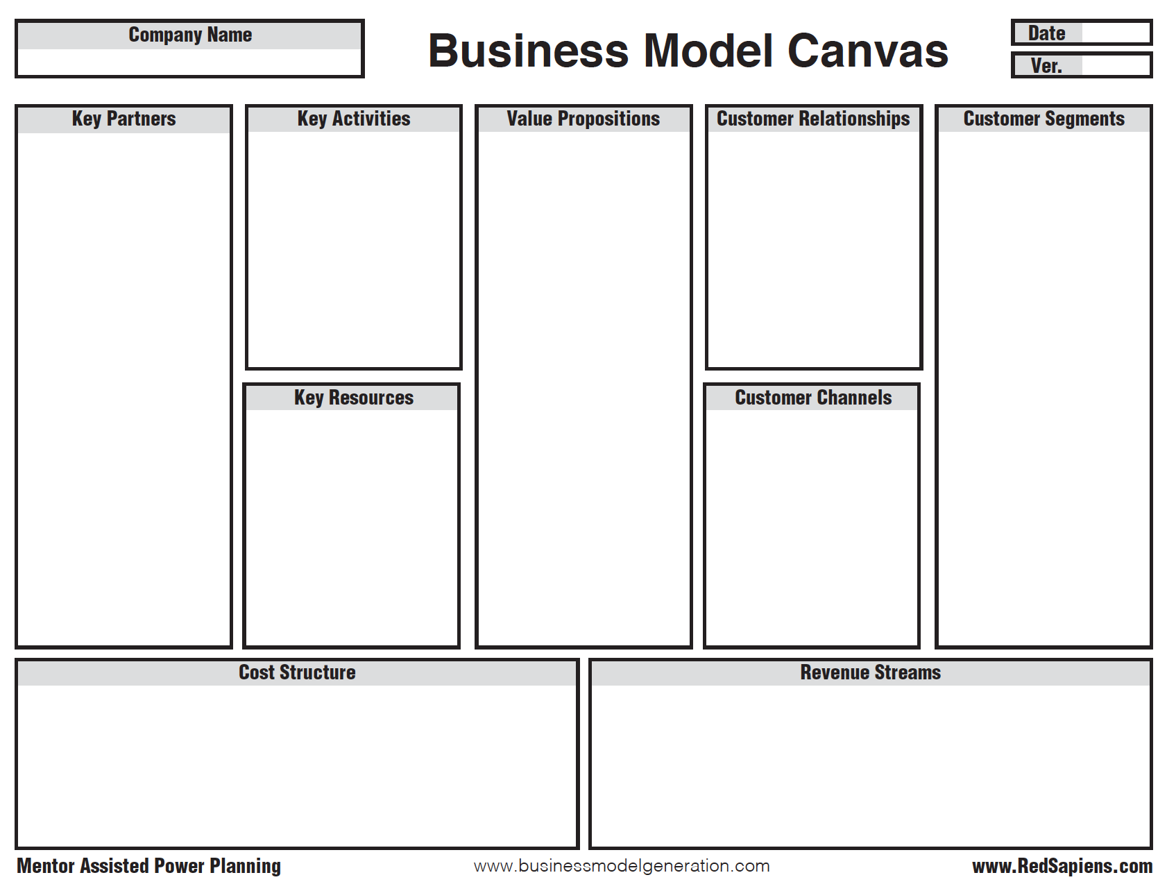 Download theBusiness Model Tool -