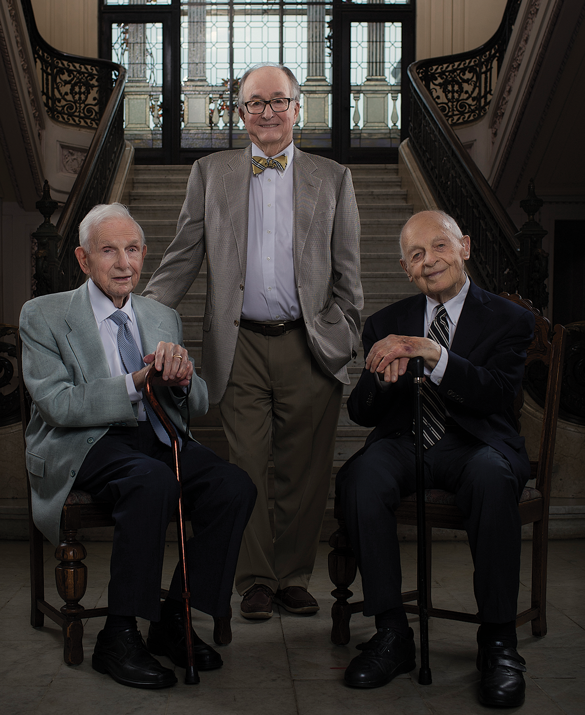 HONORARY CAMPAIGN CHAIRS - The #MakingAMuseumKC fundraising initiative is led by these three close friends and colleagues, who have lived in and supported Kansas City for more than 40 years.World War II veterans who are dedicated to arts, history, culture, education, healthcare, and entrepreneurship in Kansas City, Mr. Bill Dunn, Sr., Mr. Edward Matheny, and Mr. Henry Bloch (in memory) are working with the Board of Directors of the Kansas City Museum Foundation to strategically develop #MakingAMuseumKC and guide its priorities.