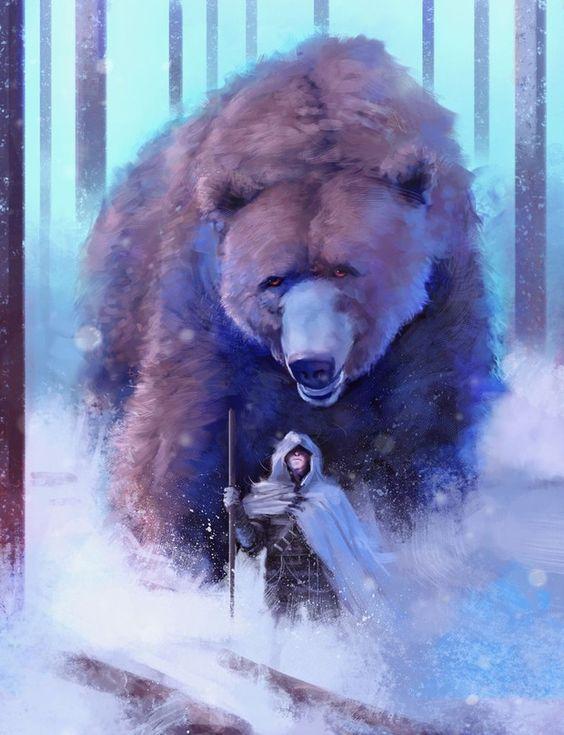 Burt the brown bear - Art by Frankie Perezar