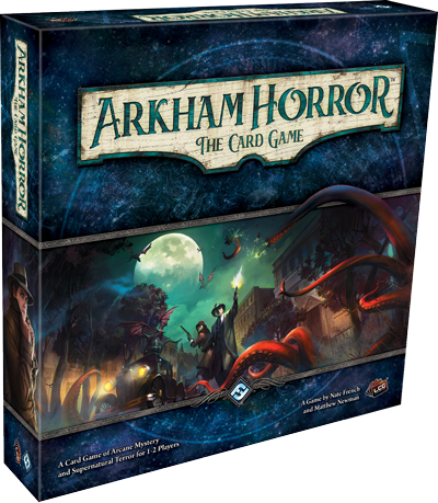 About the game - The boundaries between worlds have drawn perilously thin…Arkham Horror: The Card Game is a cooperative card game set amid a backdrop of Lovecraftian horror. As the Ancient Ones seek entry to our world, investigators work to unravel arcane mysteries and conspiracies.Their efforts determine not only the course of your game, but carry forward throughout whole campaigns, challenging them to overcome their personal demons even as Arkham Horror: The Card Game blurs the distinction between the card game and roleplaying experiences.