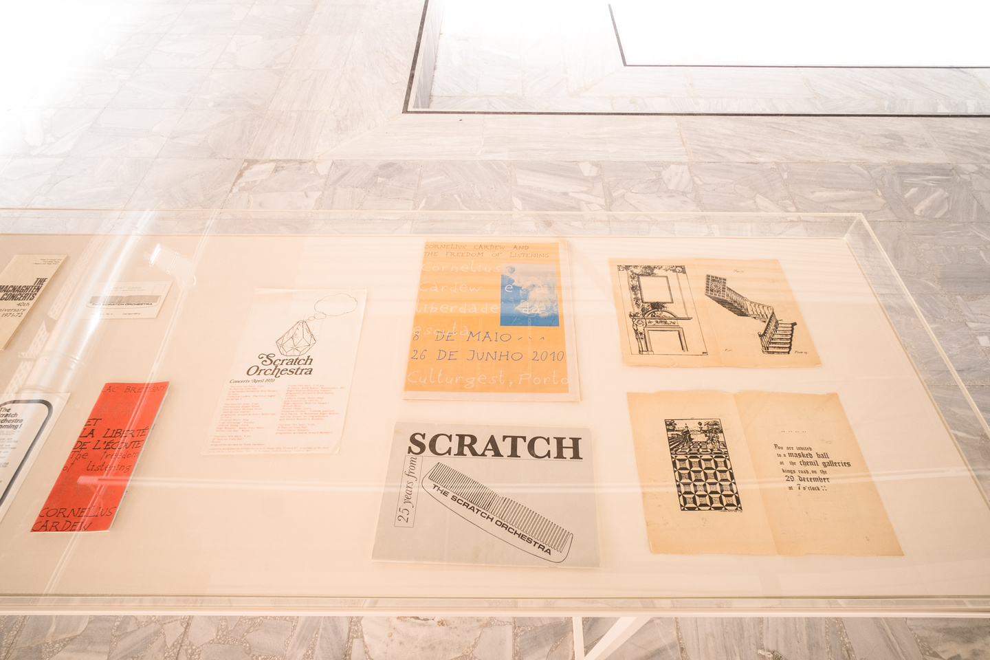 Scratch Orchestra, archival material, installation view, Mathias Voelzke